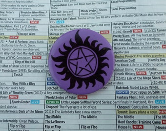 Supernatural Tattoo Pin  OR Magnet-W018