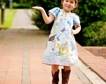 Peasant Dress Pattern PDF - 4 sleeve options