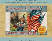Instant Download - Digital Label Sheet - Yankee Doodle Sugar - Printable PDF or JPG File