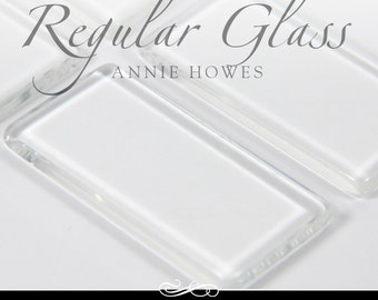 1x2 In - 48x24 - clear rectangle glass tiles. Regular Clear Glass Tiles for Pendants and Magnets. 25 Pack-UB. Annie Howes