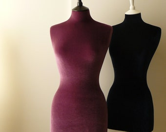 Female Display Mannequin Velvet Home Decor Dressform - Grape