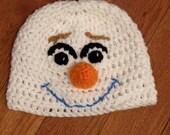 Olaf Beanie Olaf Hat Frozen Beanie Frozen Hat Olaf Costume Frozen costume snowman beanie-all sizes newborn through adult-photo prop-gift