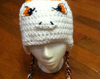 Denver Broncos Fan Crochet Earflap Beanie Skullcap Hat all sizes available