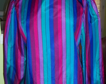 Bold Striped GIANNA BELLINI Vintage Blouse - Fit for a Fashionista