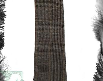 Brown Tweed Tie.