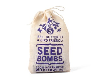 Wildflower Seed Bombs - Pacific Northwest Bird Bee and Butterfly Friendly DIY Guerilla Gardening Seeds Seed Balls