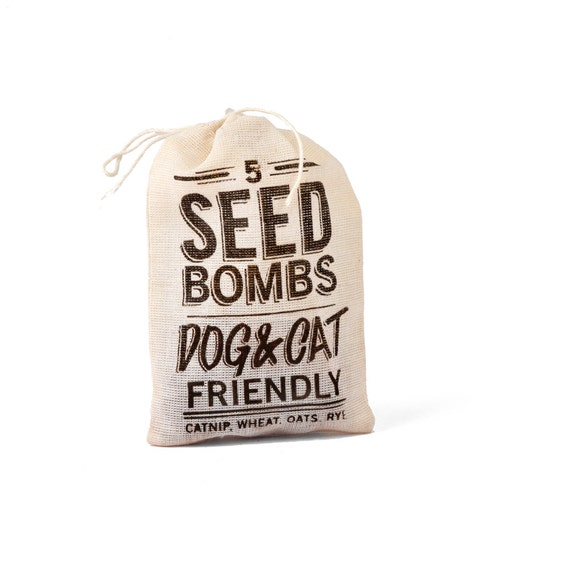 Catnip, Grass and Grain Seed Bombs - Cat and Dog Friendly Grow Your Own Treats