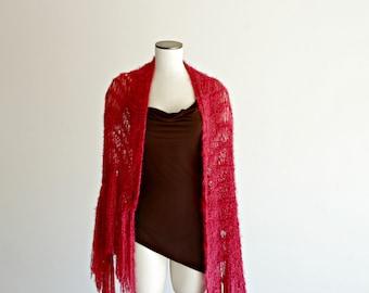 Womens Plus Size Clothing Plus Size Wrap, Plus-size Women Clothing Red Shawl Red Wrap Big Red Scarf