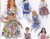 Full or half apron bakers chef baking apron sewing patterns Simplicity 4987 Sz Small  to Large