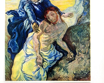 Van Gogh - Pieta - 1941 Vintage Book Plate - Masterpiece Reproduction - 14 x 10