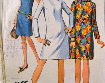 Vintage 1967 Simplicity 7380 Misses' A-Line Dress Size 10 Bust 31 complete