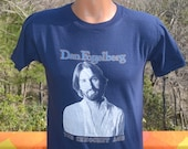 vintage 80s rock tee shirt DAN FOGELBERG innocent age music band t-shirt Medium Small concert tour 1981