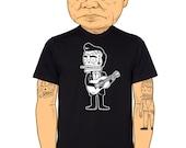 Johnny Cash Calavera Men's T-Shirt Small, Medium, Large, X-Large in 5 Colors