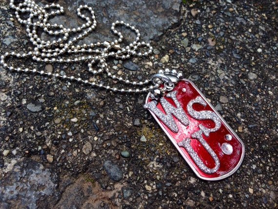 WSU Dogtag sports jewelry Washington State University cougars WSU sports gifts graduation gifts school jewelry school spirit