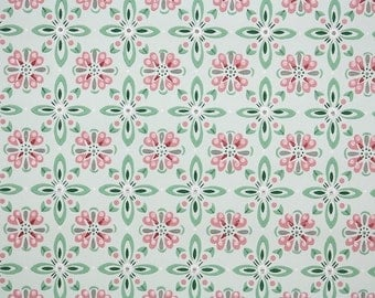 1940s Vintage Wallpaper - Geometric Wallpaper Pink Green and Gray