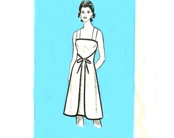 70s Wrap Around Sundress - Vintage Sewing Pattern Mail Order 9488 - Size 12 / Bust 34