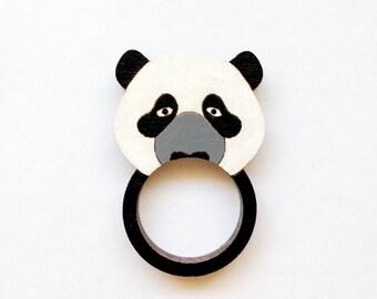 Panda Wooden Ring