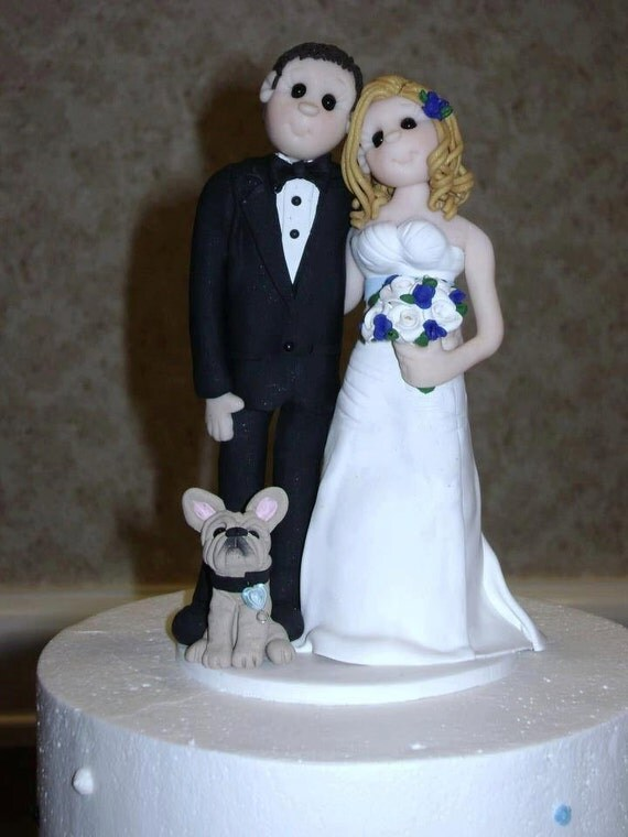 wedding cake toppers bride groom and dog and groom with wedding cake topper 26422