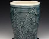 Blue Petal Porcelain Tumbler