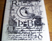 New Mounted Rubber Stamp- MERMAID SCRIPT COLLAGE