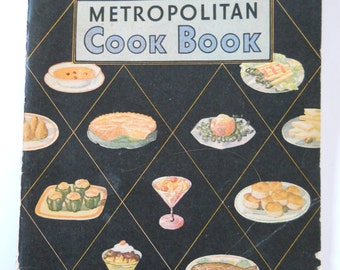 Vintage Promotional Cookbook • Metropolitan Cook Book Advertising Metropolitan Life Insurance