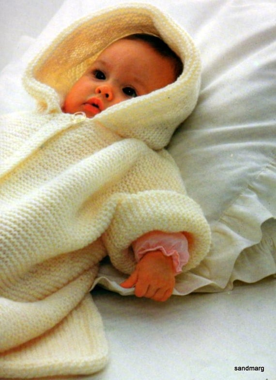 Free Knitting Pattern Cowl : Pingouin no 54 Six Baby Layettes to Knit Newborn to 18 by sandmarg