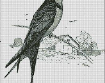 VINTAGE BIRD cross stitch pattern No.521