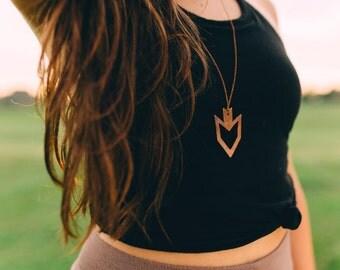 Arrowhead Copper Necklace