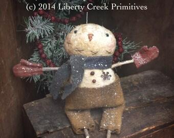 Instant Download Wooley Willey Primitive Snowman Epattern