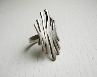 Abstract Modernistic Sterling Silver Ring