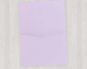 10 Flat Pocket Enclosures - Light Purple - DIY Invitations - Invitation Enclosures for Weddings and Other Events