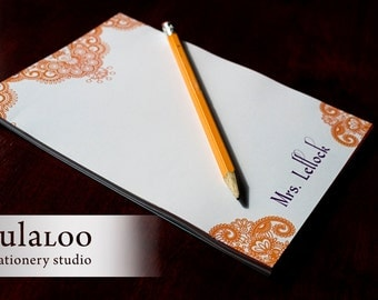 Morocco Henna Design Personalized Notepad