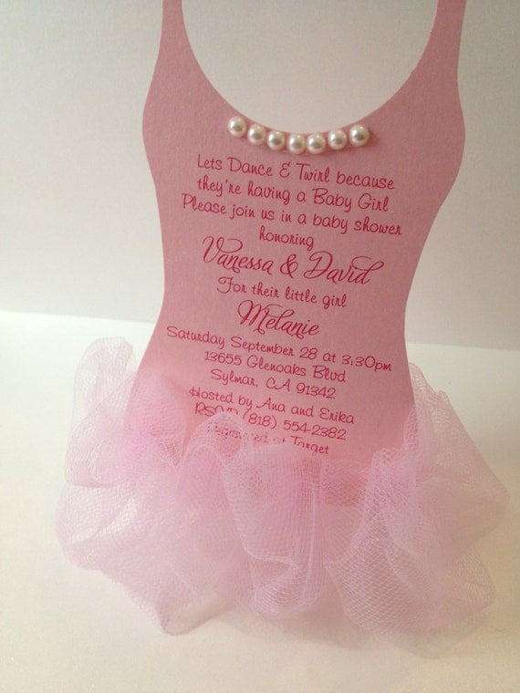 tutu baby shower invitation ballerina baby shower invitation