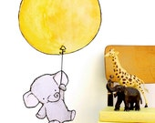 Elephant Balloon -- Wall Decal