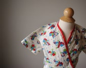1940s Jack-in-the-box Print Bed Jacket, Size 6 months