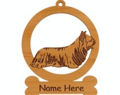 Skye Terrier Dog Ornament 083992 Personalized With Your Dog's Name