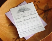 RESERVED FOR NATASHA 35 Oak Tree Wedding Invitations - Savannah Candler Oak Drawing by Heather L Young