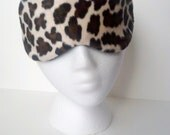 Velboa Cheetah Print Eye Mask for sleep or travel ~ Perfect for a Bridal Party or Shower Gift ~ MADE TO ORDER
