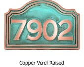 Classic Colonial Address Sign Home Numbers Plaque Custom for you 15x10 inches by Atlas Signs