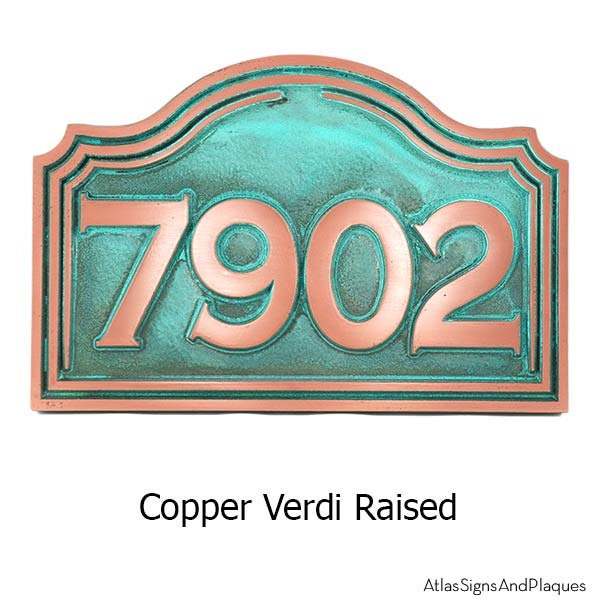 Classic colonial address sign home numbers plaque custom for for Classic house number plaque