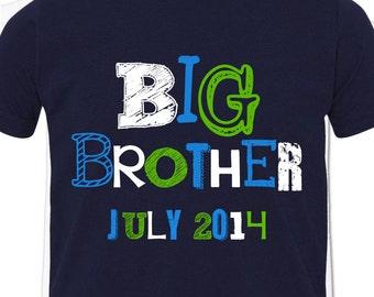 Big brother funky text DARK Tshirt
