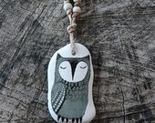 Healing Shard Necklace - Beach Glass Owl