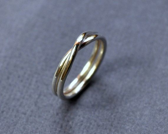 Infinity Ring. Modern Contemporary Simple Sleek Elegant Design. Sterling Silver Jewelry. Handmade by Epheriell on Etsy.