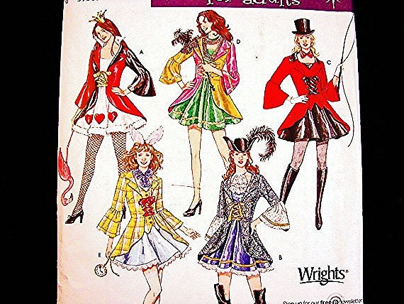 Women Costume Pattern Sexy Queen of Hearts, Lion Tamer, Pirate Costumes Misses ADULT size 6 8 10 12 UNCUT