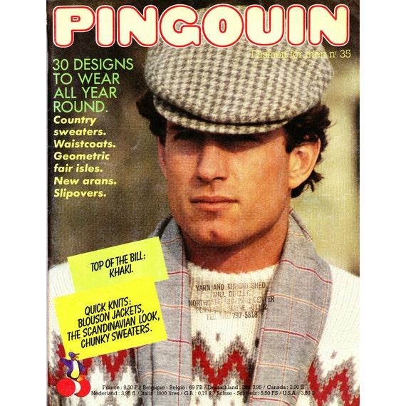 Pingouin Knitting Pattern Books : Items similar to Pingouin #35 Men s Knitting Pattern Book on Etsy
