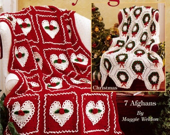 Holiday Afghans 1 Crochet Pattern Leaflet - PDF