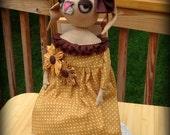 Primitive Fall Bunny Rabbit Doll