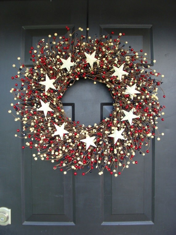 Fourth of July Wreath- July 4th Wreath- Patriotic Wreath- Fourth of July Decor