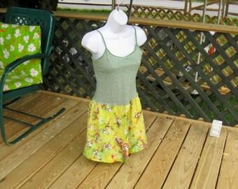 Upcycled Artsy Sun Dress size small