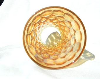 Set of 6 Mid Century Iridescent Orange Glassware